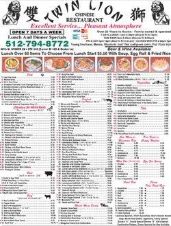 Chinese Cuisine - Austin, TX - Twin Lion Chinese Restaurant Menu