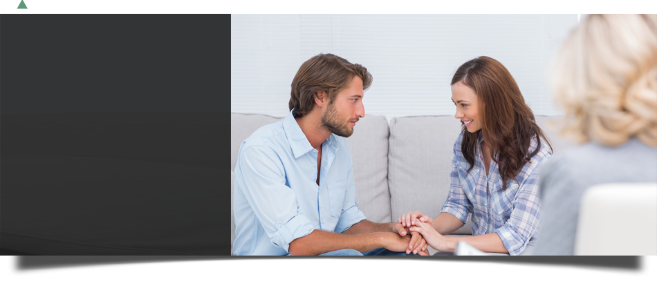 Couple convincing each other in counseling