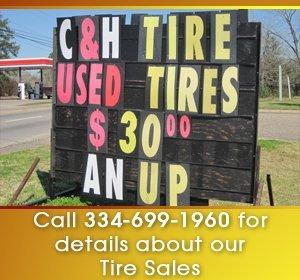 tire sales - Dothan, AL - C & H Tire Service - Used Tire Sales