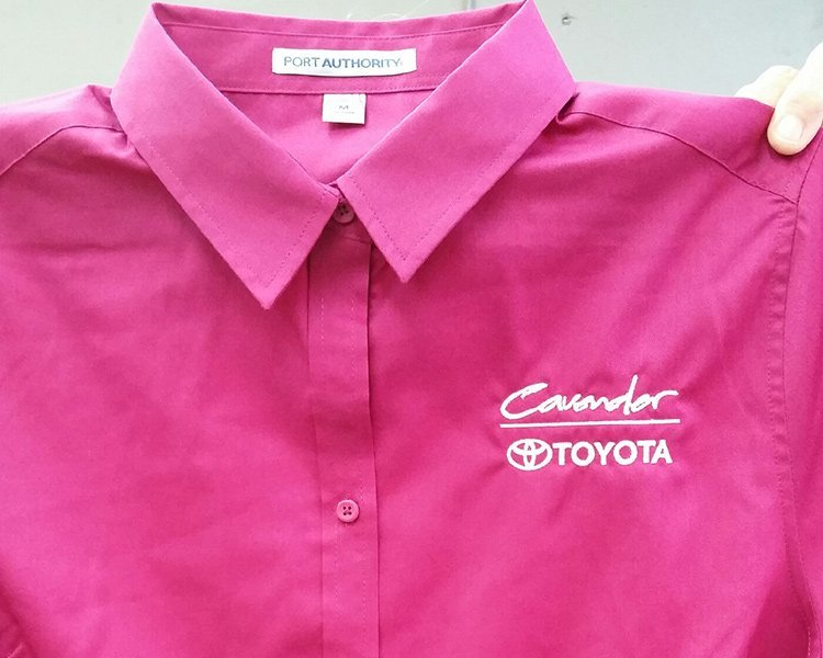 embroidery shirt cavender pink