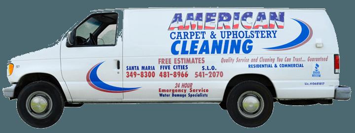 American Carpet & Upholstery Van | Nipomo, CA | 805-481-8966 | 805-541-2070