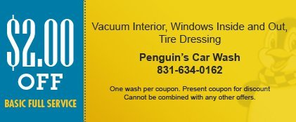 Penguin's Car Wash Coupon