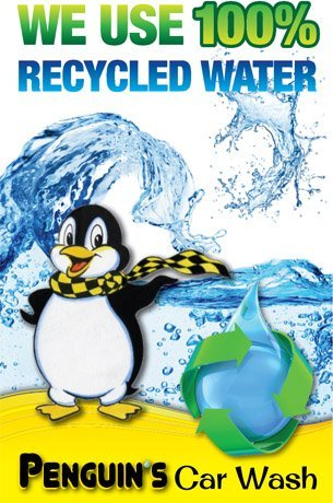100% recycled water | Hollister, CA | Penguin's Car Wash | 831-634-0162