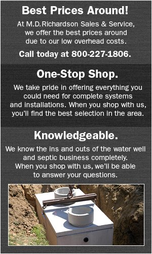 Concrete Septic Tanks - Bowie, TX  - M.D Richardson Sales & Service