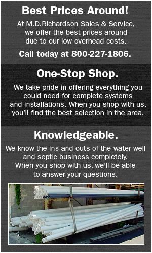 Plumbing/Electrical Supplies - Bowie, TX - M.D. Richardson Sales & Service
