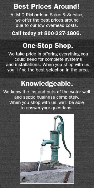 Water Well Pumps - Bowie, TX  - M.D Richardson Sales & Service