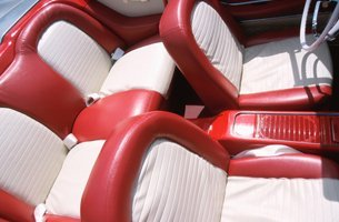 Red and white sports car upholstery