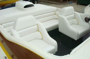 Boat seat upholstery set