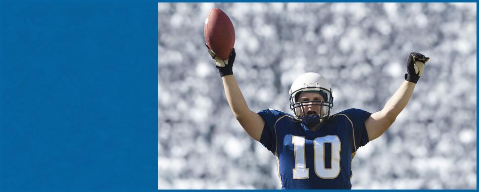 Man playing american football