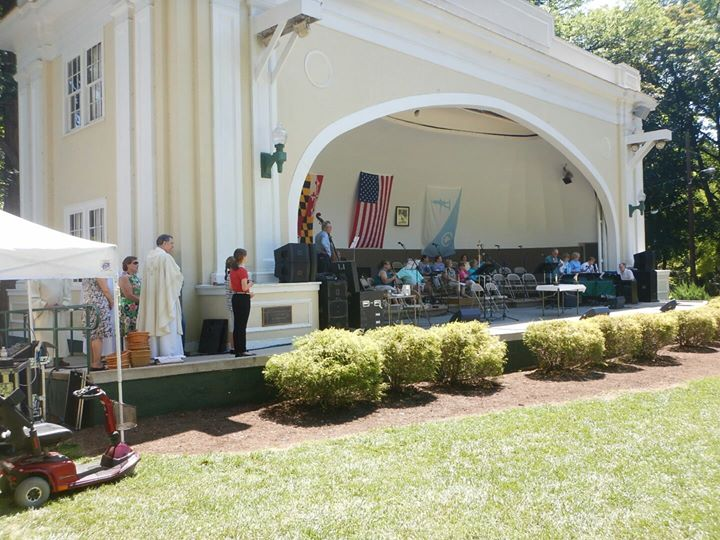 St Ann's Catholic Church Mass in the Park Hagerstown, MD