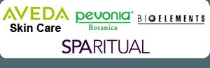 Pevonia, Spa Ritual, Bioelements, Aveda Skin Care