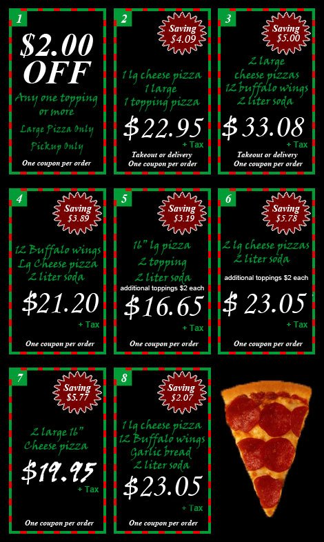 Glastonbury Pizza House Coupon