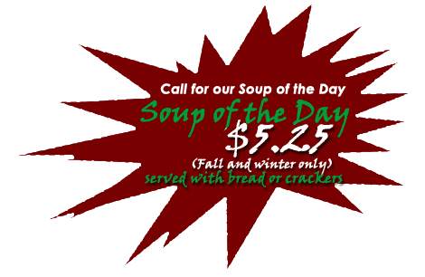Soup of the Day | Glastonbury, CT | Glastonbury Pizza House | 860-652-9900