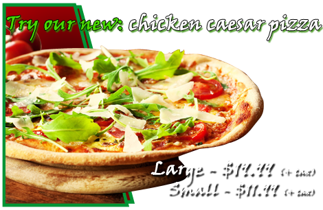 Chicken Caesar Pizza | Glastonbury, CT | Glastonbury Pizza House | 860-652-9900