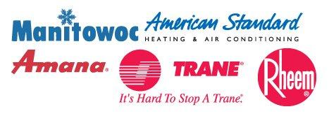 Manitowoc, American Standard, Amana, Trane, Rheem logos