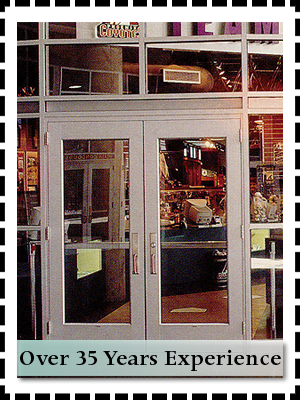 Glass service - Pittsburgh, PA - Steel City Glass - white glass door - Over 35 Years Experience