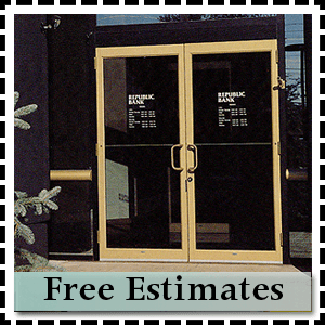 Glass installation - Pittsburgh, PA - Steel City Glass - aluminum doors - Free Estimates
