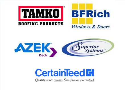 Certainteed | Tamko Roofing Products | BF Rich Windows & Doors | Azek Deck | Superior System