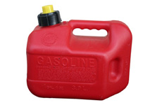 Red gasoline container