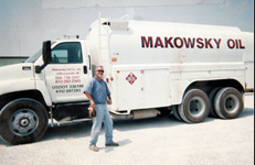 Man standing with the truck