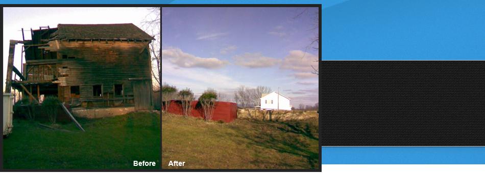 Demolish barns | Walden, NY | Nat's Clean-Up Service | 845-800-8203