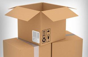 Three package box