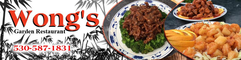 Chinese Cuisine Truckee, CA - Wong's Garden Restaurant