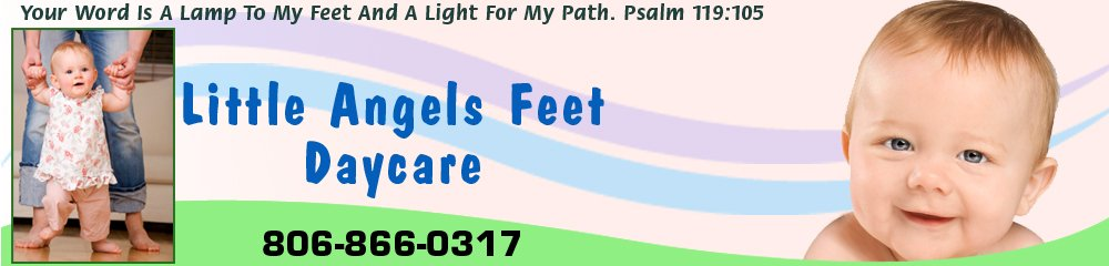 Day Care Center - Wolfforth, TX - Little Angels Feet Daycare