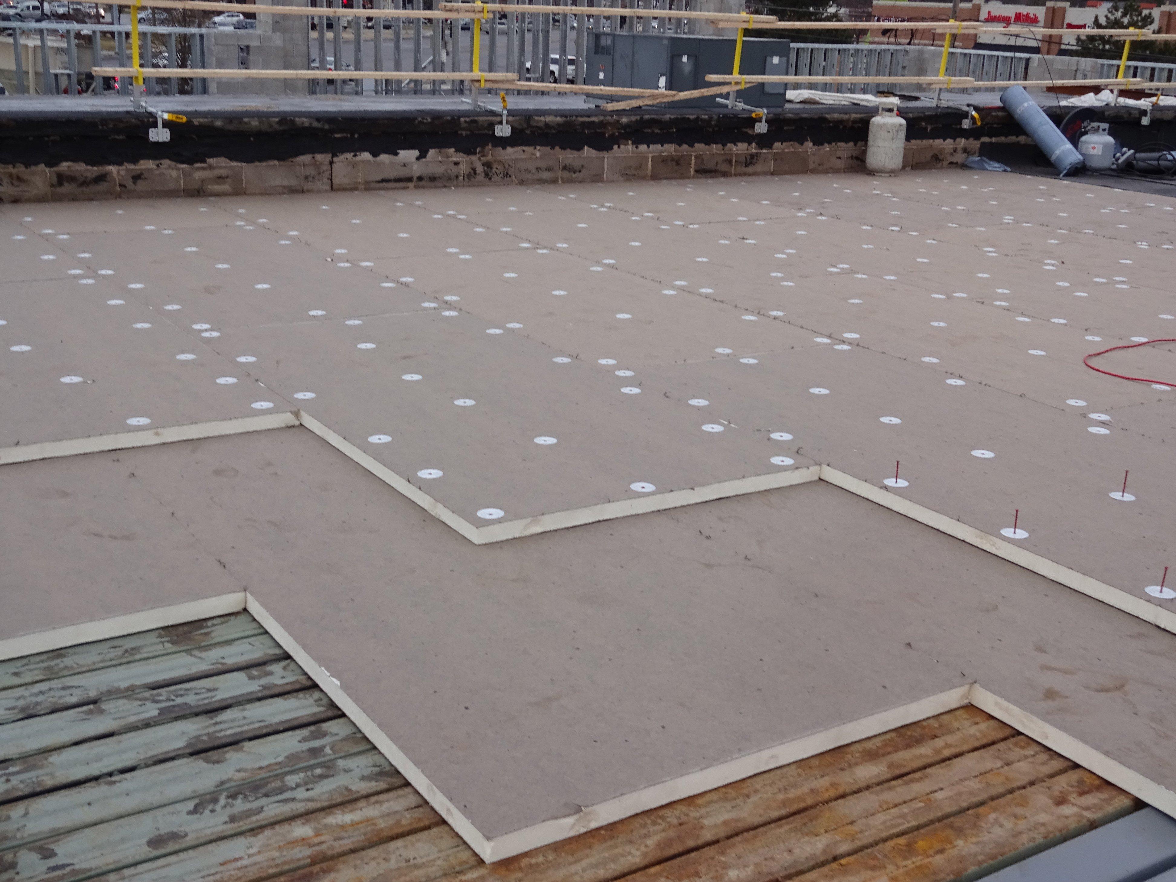 Flat roof work
