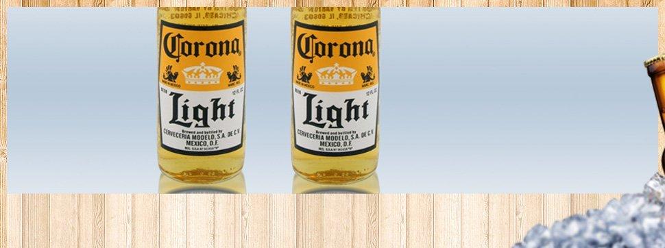 Two bottles of Corona beer