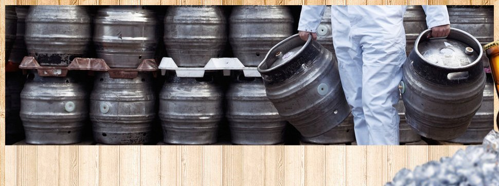 Holding two kegs