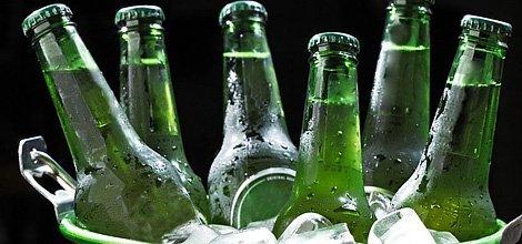 Six bottles in a bucket