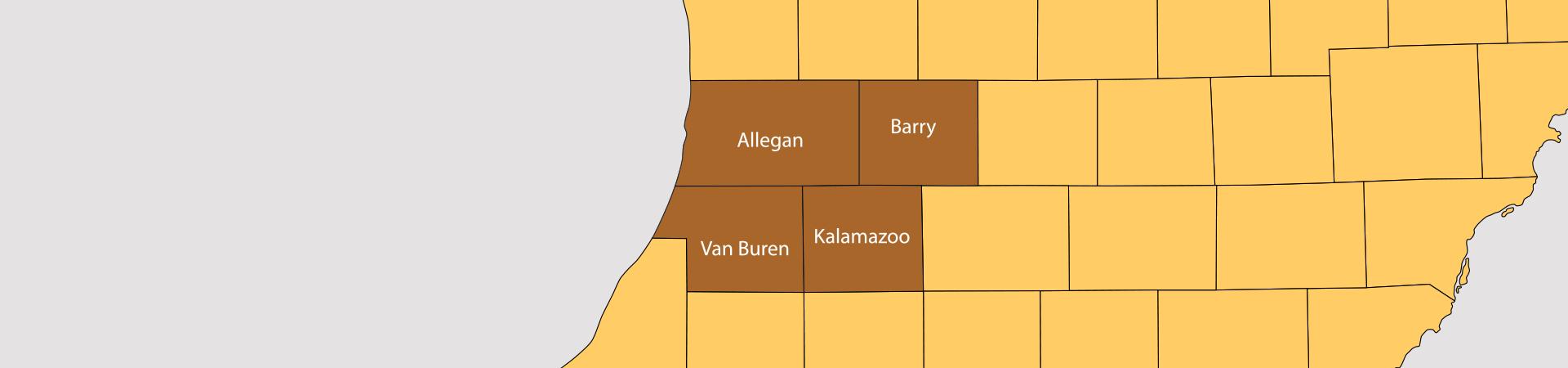 Wray's Septic Tank & Development Co.-Service area map