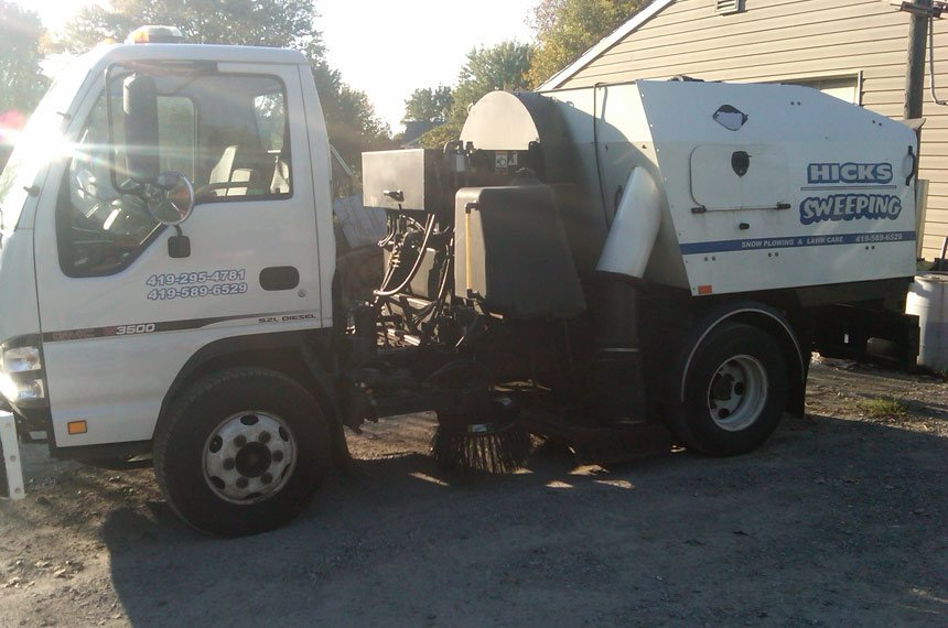 Hicks Sweeping Vehicle