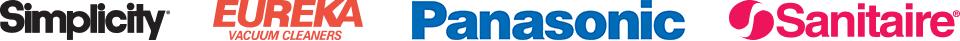 Simplicity, Eureka, Panasonic, Sanitaire