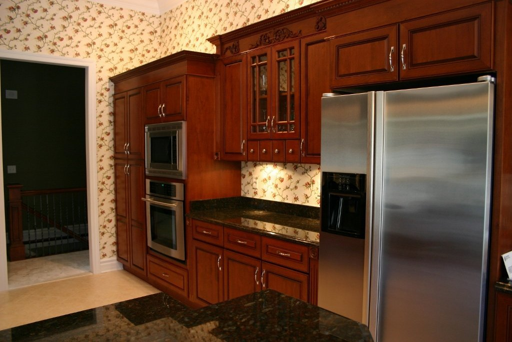 Cherry Kitchen with Quartz Tops