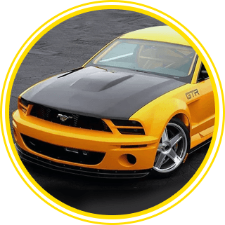 Yellow Mustang Car