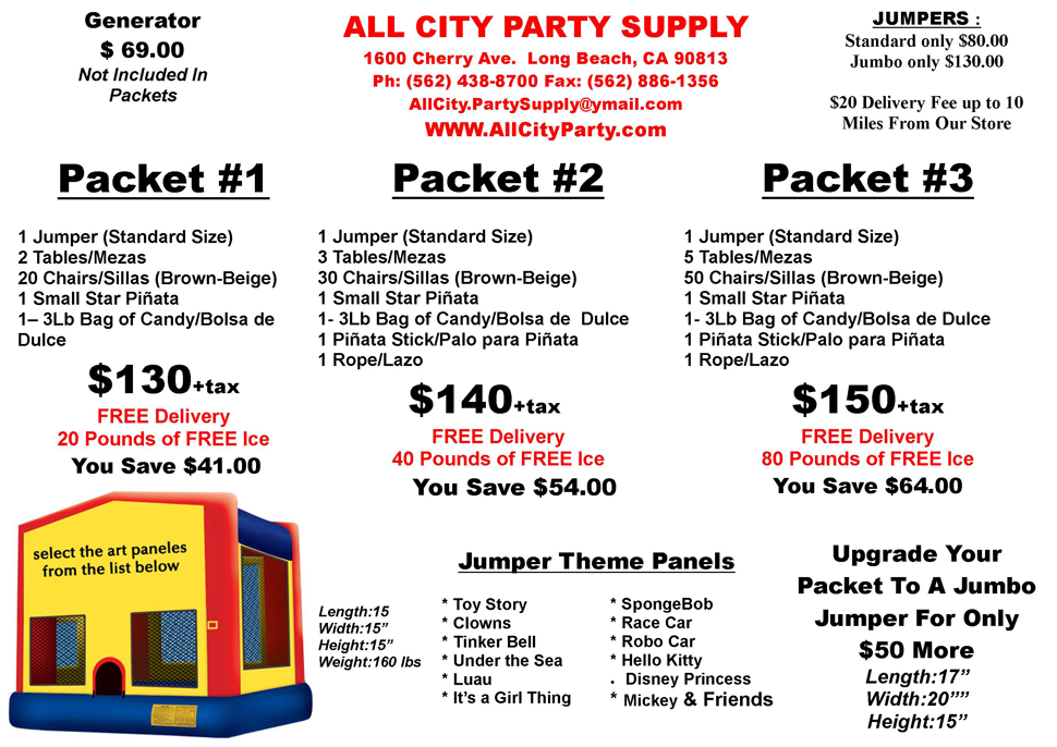 Deals | Long Beach, CA | All City Party   Supplies | 562-438-8700