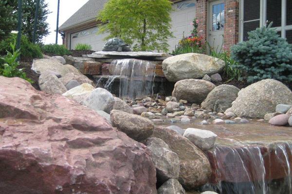 ... Garden With Fountain · Backyard Landscaping ...