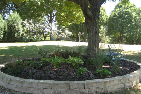 ... Garden With Fountain · Backyard Landscaping · Hardscaping With Trees ...