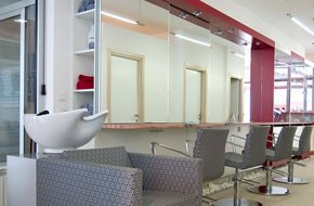 Furniture and mirrors for salon