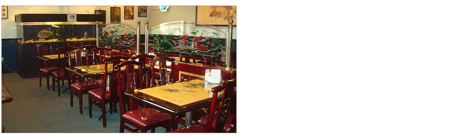 Chinese dining area