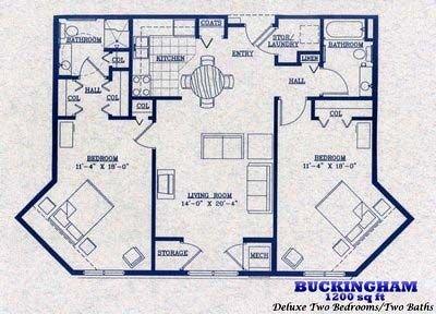 Buckingham   1200 square feet