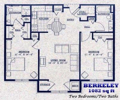 Berkeley   1082 square feet