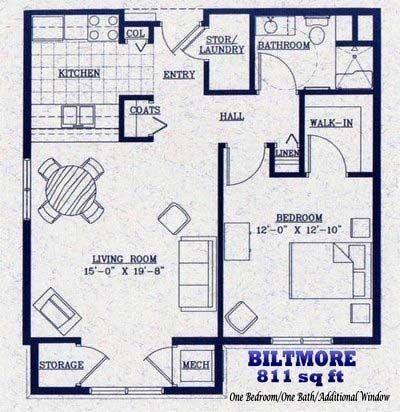 Biltmore   811 square feet