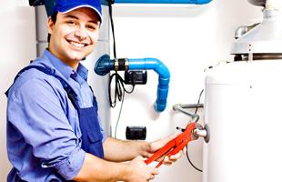 Man inspecting HVAC