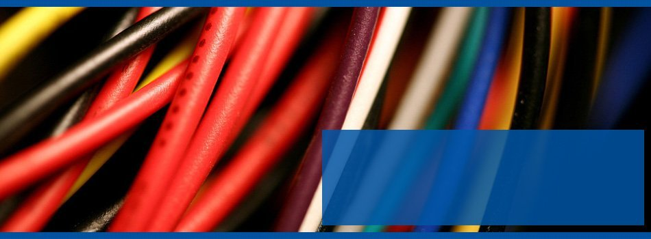 Electrical wires in different colors