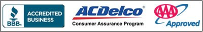 BBB Member, AC Delco Consumer Assurance Program, AAA Approved