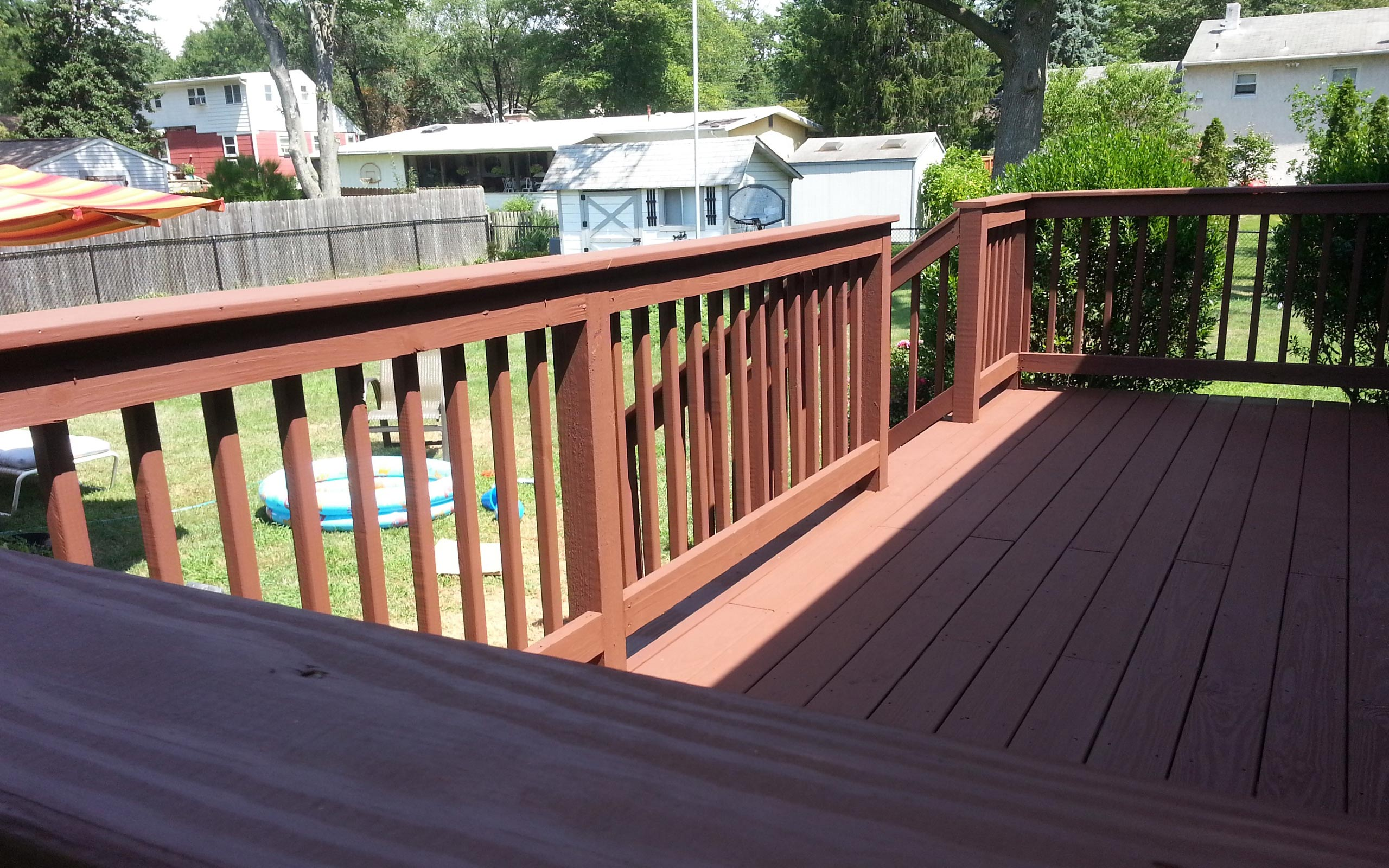 Newly built deck