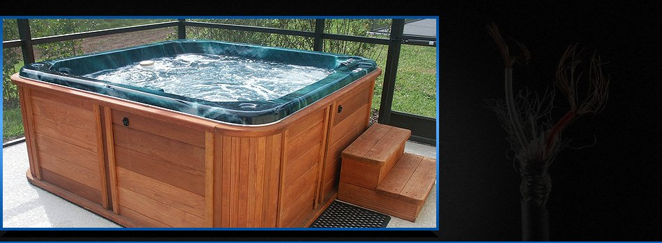 Power hook up for hot tub